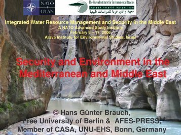 Security and Environment in the Mediterranean and Middle East