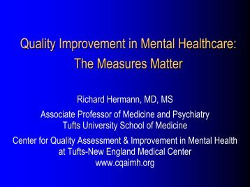 Presentation - Center for Quality Assessment and Improvement in ...