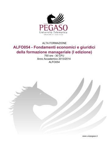 ALFO054 - Fondamenti economici e giuridici della ... - Cesd-onlus.com