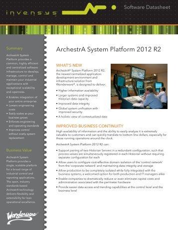 ArchestrA System Platform 2012 R2 - Klinkmann.