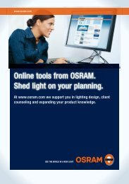 Online tools from OSRAM. Shed light on your planning.