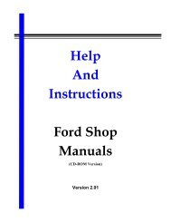 Help and Instructions - Ford Shop Manuals (CD-ROM)