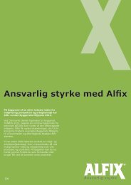 Ansvarlig styrke med Alfix - Miljø og arbejdsmiljø flyer