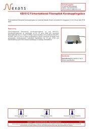 Skriv ut datablad / Skapa en PDF-fil - Nexans