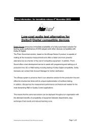 Press Information : for immediate release January 14, 2000