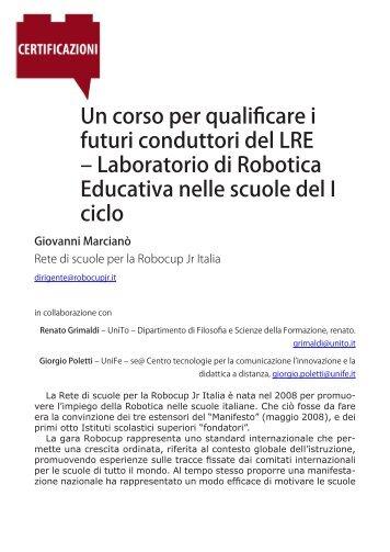 Un corso per qualificare i futuri conduttori del LRE – Laboratorio di ...