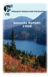 Annual Report 2008 - Women's Voices for the Earth