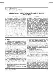 maszyny górnicze 4/2007 - Instytut Techniki Górniczej KOMAG