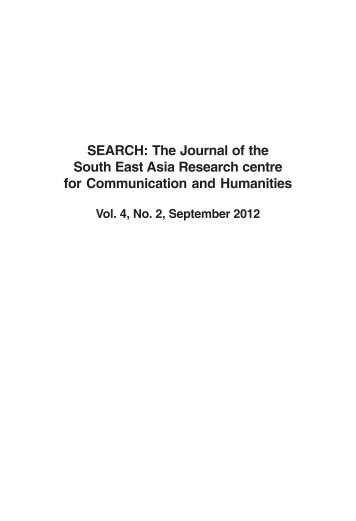 Volume 4, Issue 2, September 2012 - South East Asia Research ...