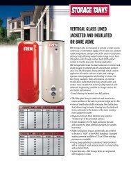 RBI Storage tank brochure - California Boiler