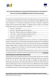 Acta da Segunda Reunião da Comissão de ... - CCDR-LVT