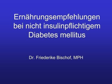 Diabetes ohne Insulin