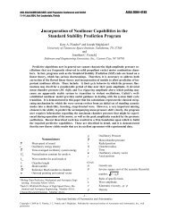 Incorporation of Nonlinear Capabilities in the Standard ... - UTSI
