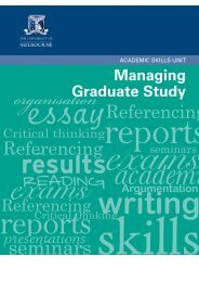 Managing Graduate Study - Student Services - University of ...