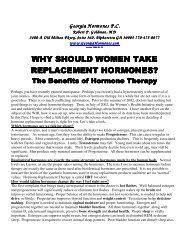 replacement hormones? - Georgia Hormones