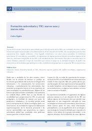 Formación universitaria y TIC: nuevos usos y nuevos roles