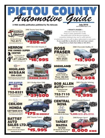 Pictou County Auto Guide July 2010.pdf  - The Pictou Advocate