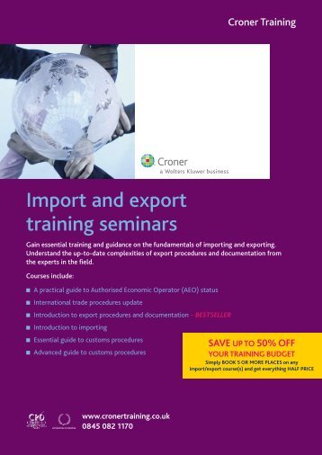Import and export training seminars - RTPI Conferences
