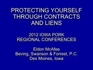 Protecting Yourself Through Contracts & Liens - Iowa Pork ...