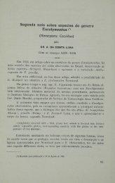 Segunda nota sobre especies do genero Eucalymnatus (Homoptera ...
