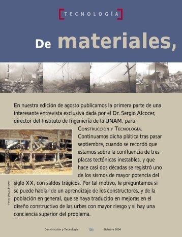 De materiales, concretos y terremotos, un futuro con salidas