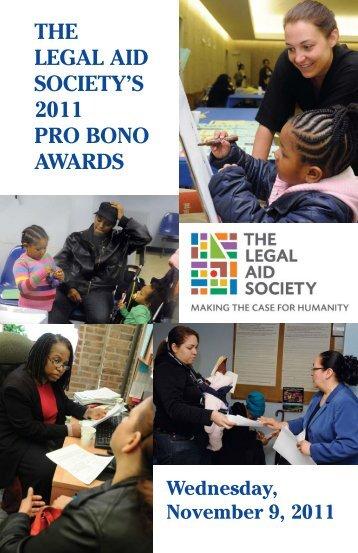 2011 Pro Bono Honor Roll and Pro Bono - Legal-aid.org