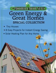 Green Energy & Great Homes Special Collection - Mother Earth News