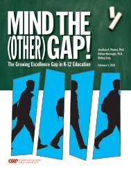 Mind the (Other) Gap! The Growing Excellence Gap in K-12 Education