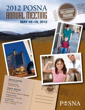 Program - The Pediatric Orthopaedic Society of North America