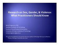 Research on Sex, Gender, & Violence - Batterer Intervention ...