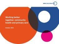 Working better together - final version of slide pack