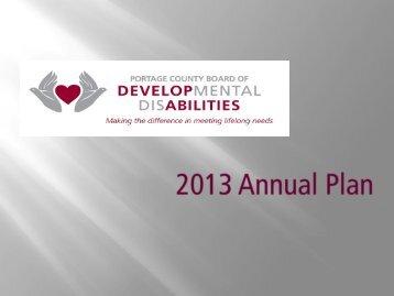 2013 Draft Annual Plan - Portage County Board of Developmental ...