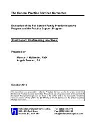 Final Report: Conferencing Incentives - October 2010 - GPSC
