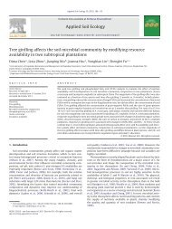 Tree girdling affects the soil microbial community by modifying ...