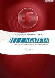 Pesquisa Eleições 2º turno VILA VELHA - FuturaNet