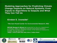 Modeling Approaches for Predicting Climate Change Impacts on ...