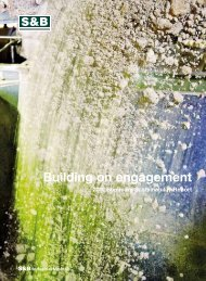 Sustainability Report 2012 - S&B