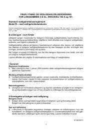 Vedligeholdelsesreglement for afdeling 69 Langdammen / Gl...