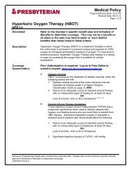 Hyperbaric Oxygen Therapy (HBOT) - Presbyterian Healthcare ...
