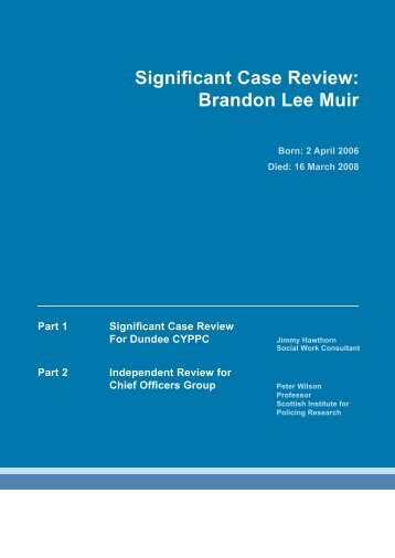 Significant Case Review: Brandon Lee Muir - Fair Play For Children