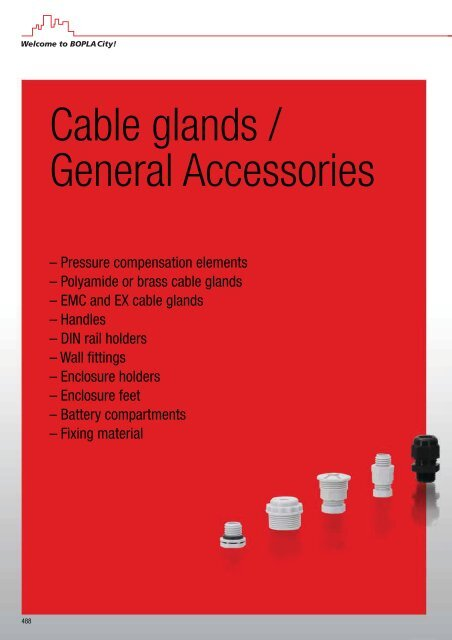 Cable glands / General Accessories - Bopla