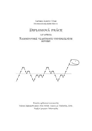 Universita Karlova v Praze Matematicko-fyzikGlnH fakulta S IULO m ...