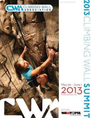 2013 Summit program - Climbing Wall Association