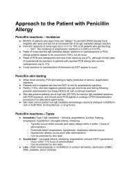 Approach to the Patient with Penicillin Allergy