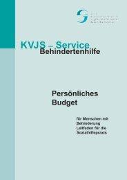 Persönliches Budget für Menschen mit Behinderung - VKIB.DE