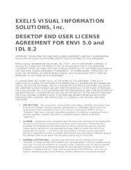 DESKTOP END USER LICENSE AGREEMENT FOR ENVI 5.0 and ...