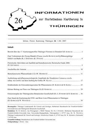 Ausbreitung und pflanzensoziologische Amplitude des Neophyten ...