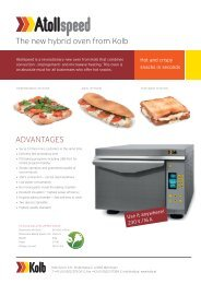 The new hybrid oven from Kolb ADVANTAGES