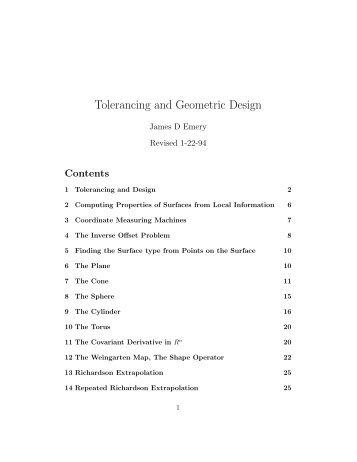 Tolerancing and Geometric Design - STEM2
