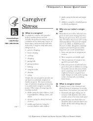 Caregiver stress fact sheet - WomensHealth.gov